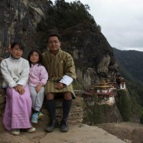 My daughters and I, Taktshang, 2009